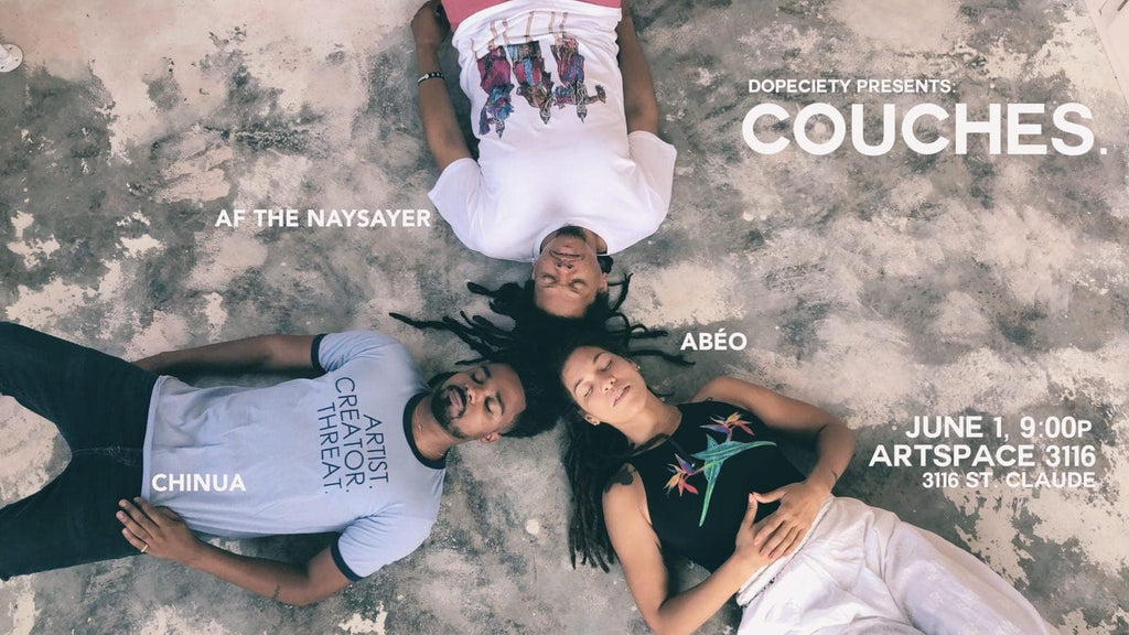 6/1: COUCHES. ft Abéo, AF THE NAYSAYER, Chinua