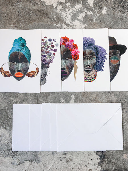 Note Card Pack with Envelopes - Dan Mask Series 1