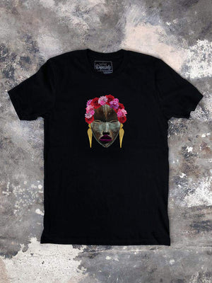 Load image into Gallery viewer, Frida's Flowers Tee, black