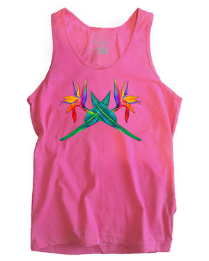 Bird of Paradise tank, fuchsia