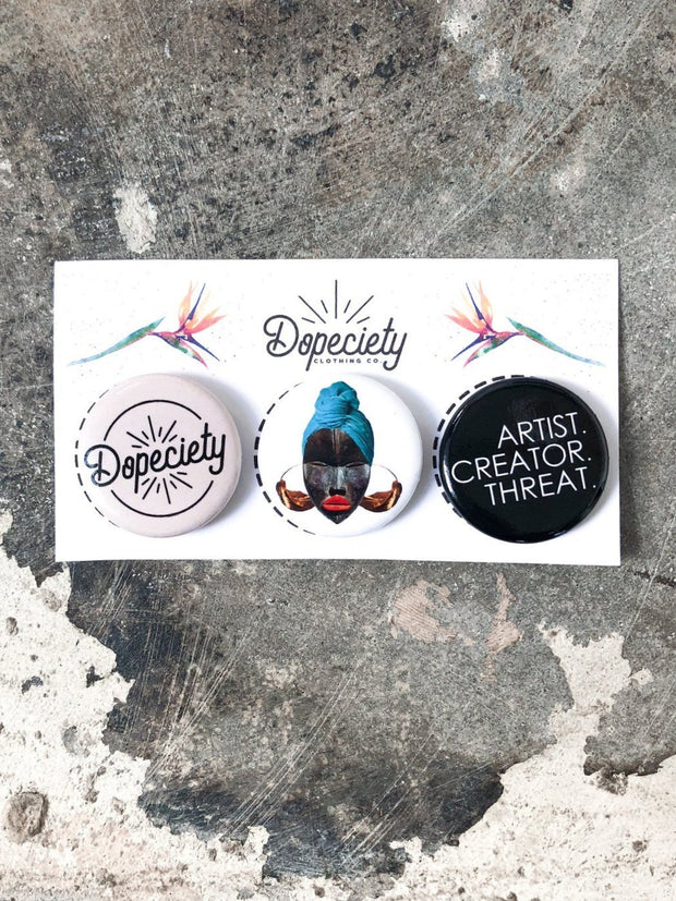 Dopeciety 3 Button Pack 1