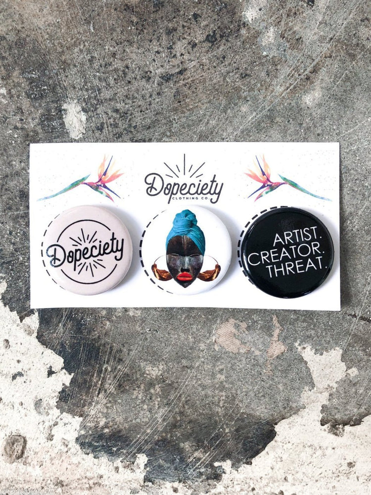 Dopeciety 3 Button Pack