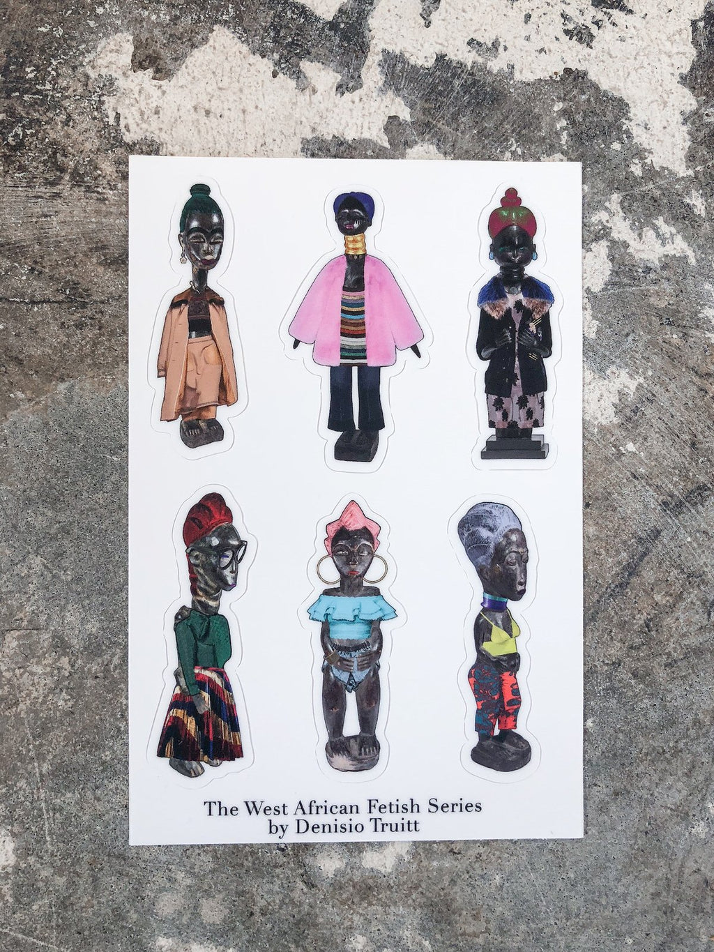 West-African Fetish Sticker Sheet