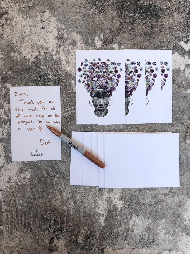 Note Card Pack with Envelopes - Flowerbomb