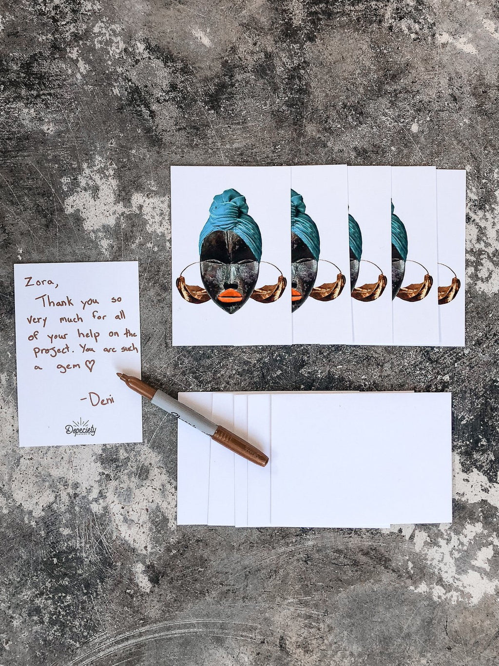 Note Card Pack with Envelopes - Fulani