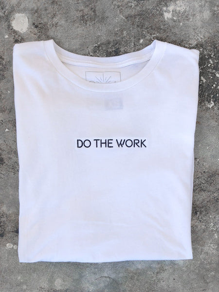 Do The Work, long sleeve tee, white