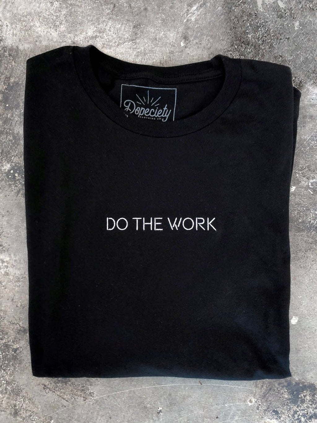 Do The Work, long sleeve tee, black