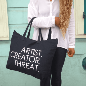 Load image into Gallery viewer, Artist.Creator.Threat Canvas Tote - Dopeciety - 2