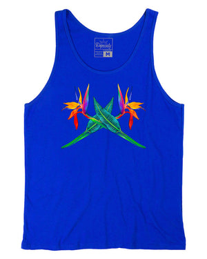 Load image into Gallery viewer, Bird of Paradise tank, blue