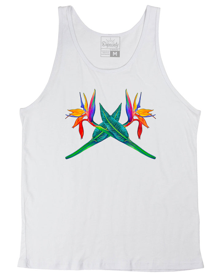 Bird of Paradise tank, white