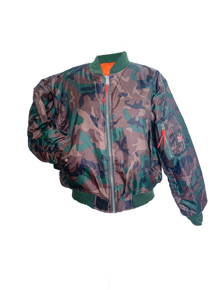 Load image into Gallery viewer, Reversible Camo Flight Jacket