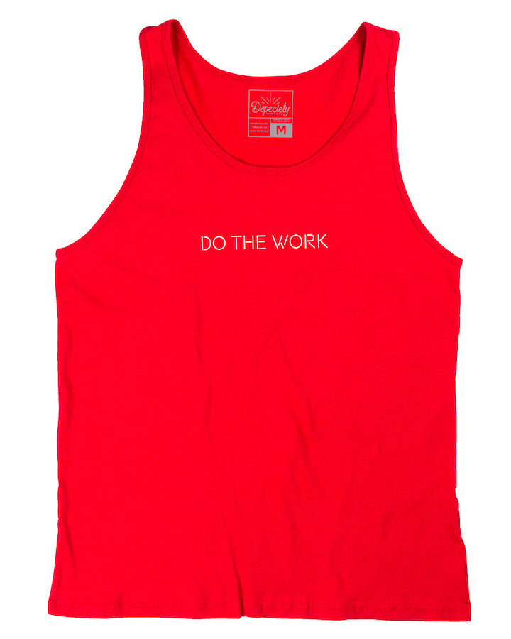 Do The Work tank, red