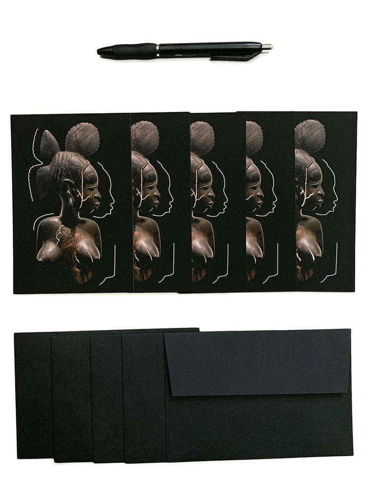 Load image into Gallery viewer, Ebony Fula Bust, Note Card pack