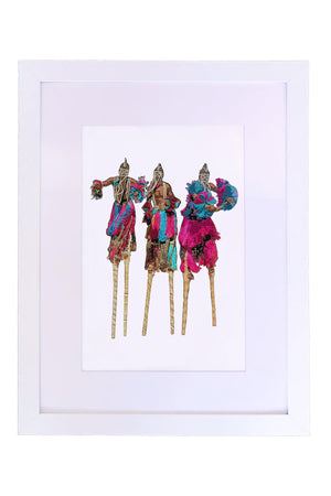 Stilt Dancers Art Print