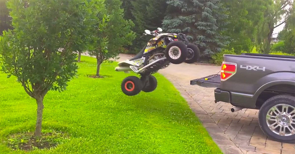 How To Load a Motorcycle, Dirt Bike or ATV Into a Truck
