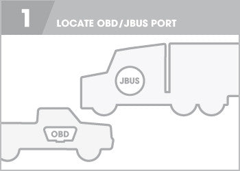 Step One Locate OBDII Port