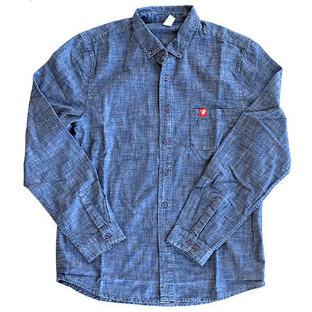 RIVEN DENIM BUTTON UP