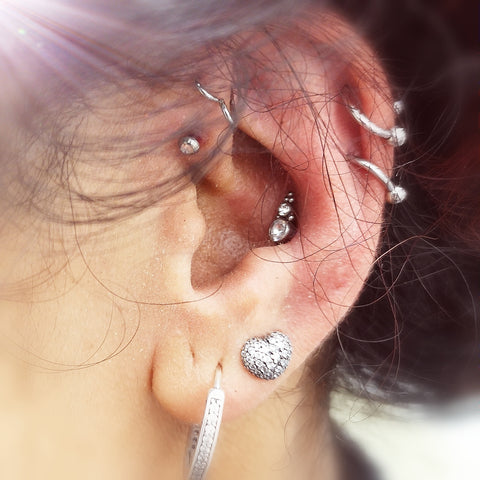 Conch piercing titanium couture