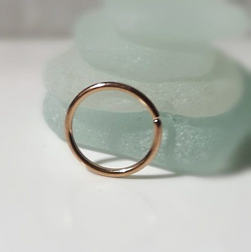 20g Seamless hoop earring thin piercing ring