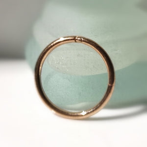 ear arch piercing hinged rose gold ring