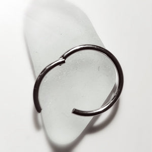 Steel hinged hoop earring ring piercing jewelery
