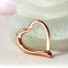 Load image into Gallery viewer, Rose gold daith heart