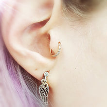 Load image into Gallery viewer, tragus hoop rose gold pretty