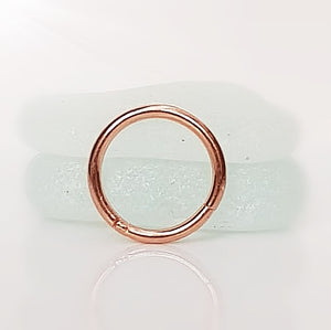 ear arch piercing rose gold