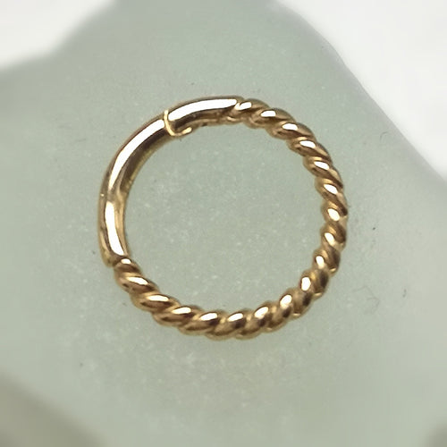 9ct gold rope twist ring