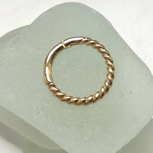 Load image into Gallery viewer, 9 CT gold helix hoop