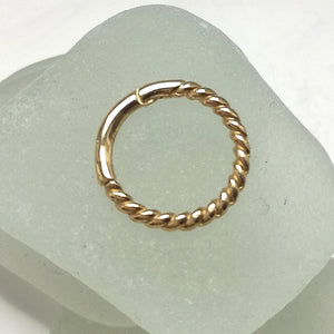 9 CT gold helix hoop