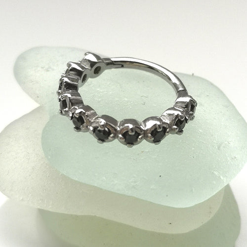 Helix ring with gems