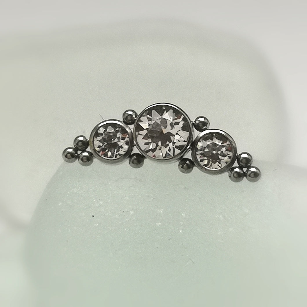 helix couture cluster piercing bar