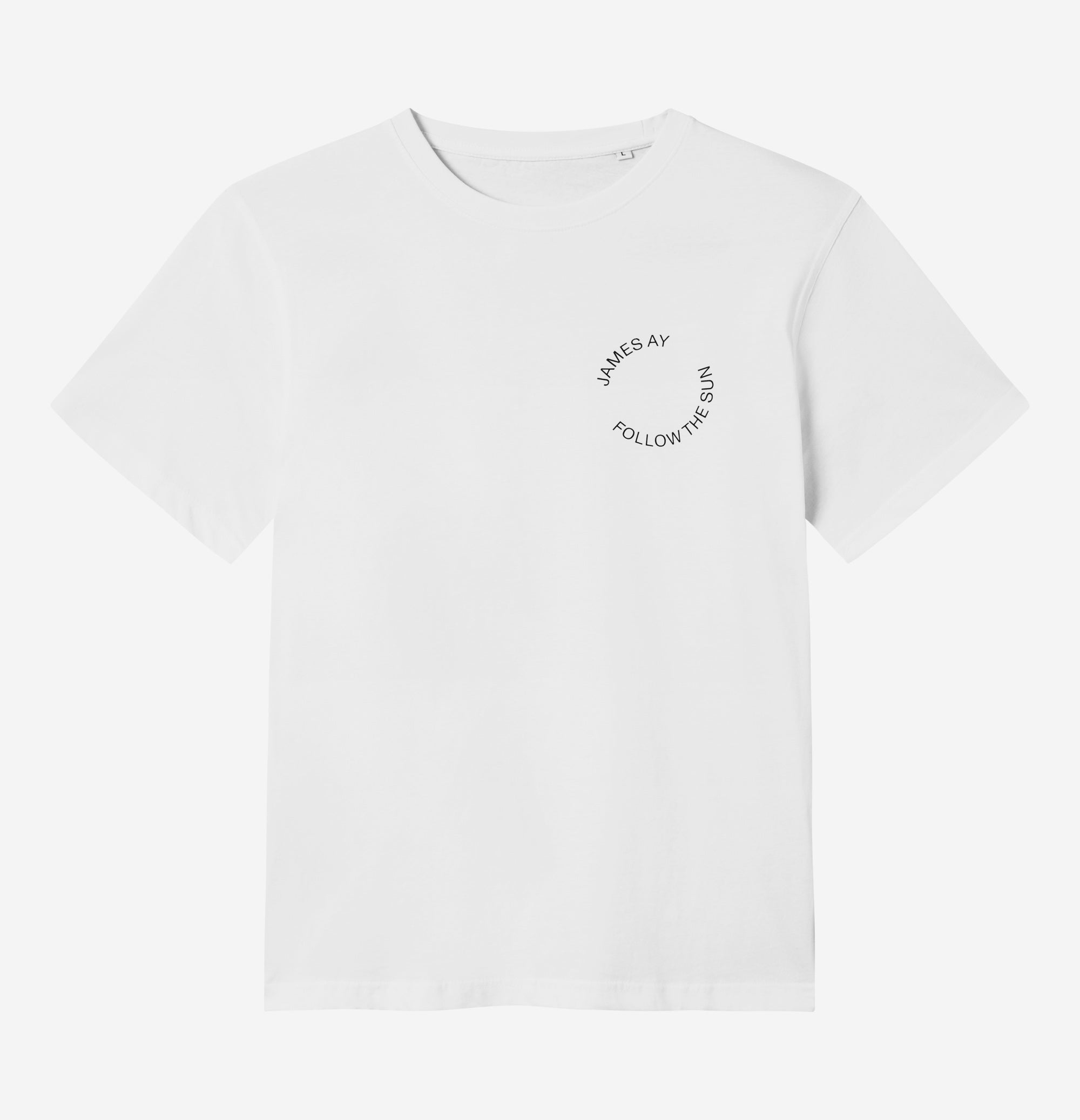 Organic t-shirt - White - James Ay