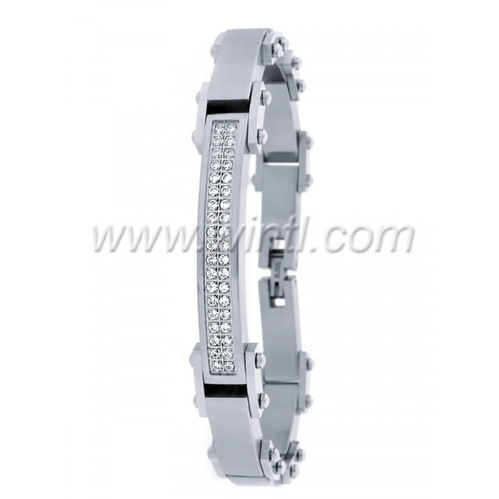 Steel Bracelet with CZ 2543-A