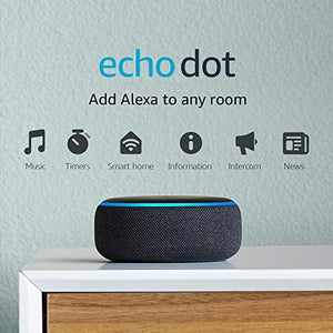 Echo Dot (3ra Gen) - Parlante inteligente con Alexa - Carbón: Amazon Devices