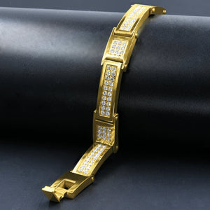 Stainless Steel CZ Bracelet for Men