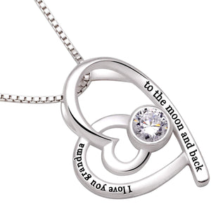 """I Love you Grandma to the moon and back"" Heart    free shipping!!!!!!!"