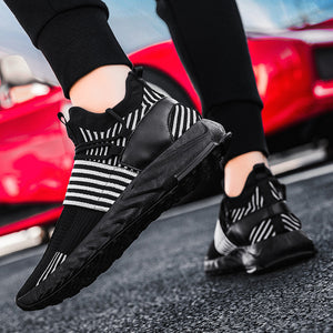 Mesh Breathable Sneakers Men Running Shoes Lightweight Casual Male Lace-up Outdoor Sport Shoes Men Comfortable Wear Resistant