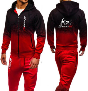Men Sets zipper hoodies pants hooded tracksuit Motorsport Shifter M Power print male sweatsuit mens sporting suits Autumn