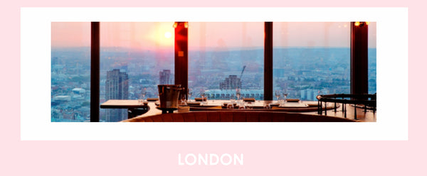 Impressive city skyline of London from Duck& & Waffle