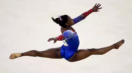Simone Biles Gold medal winning Olympic gymnast