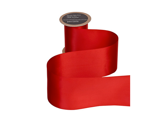 Classic bright red wide gift wrap ribbon