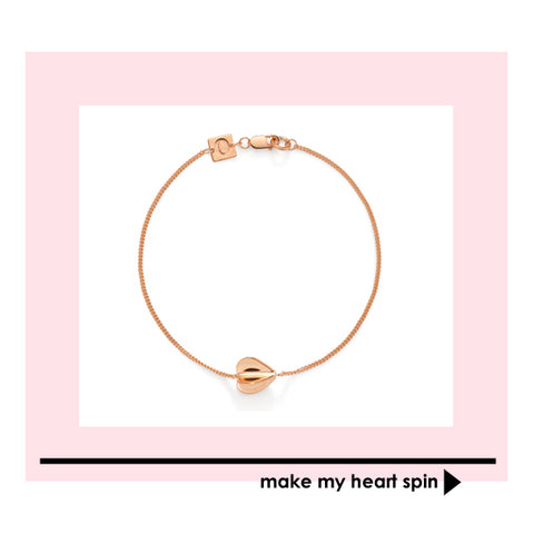rose gold My Heart Spins bracelet, sterling silver jewellery for One of A Kinds