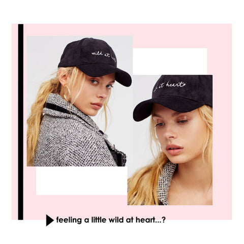 Wild at heart black leather baseball cap from Free People