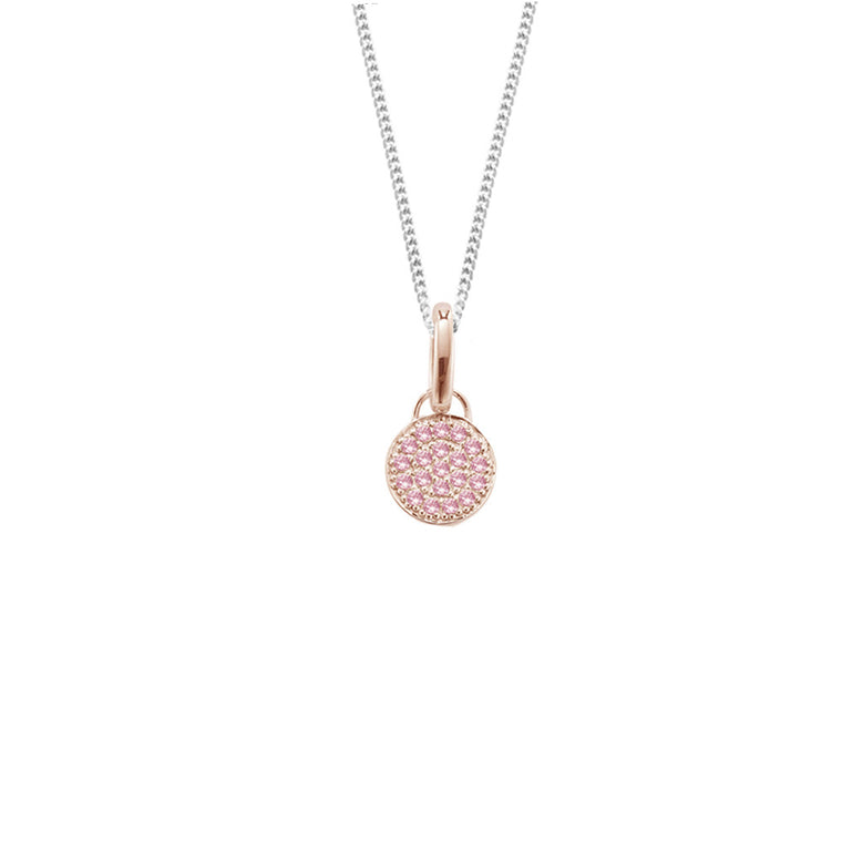 Moonshine Necklace in Rose Gold, Short