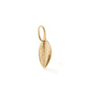 gold feather charm, friendship talisman by OAK Jewellery