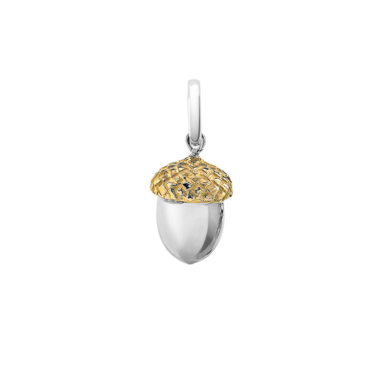 Iconic Silver & Gold Acorn Charm By OAK Jewellery