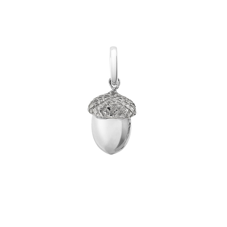Iconic Silver Acorn Pendant Charm By OAK Jewellery