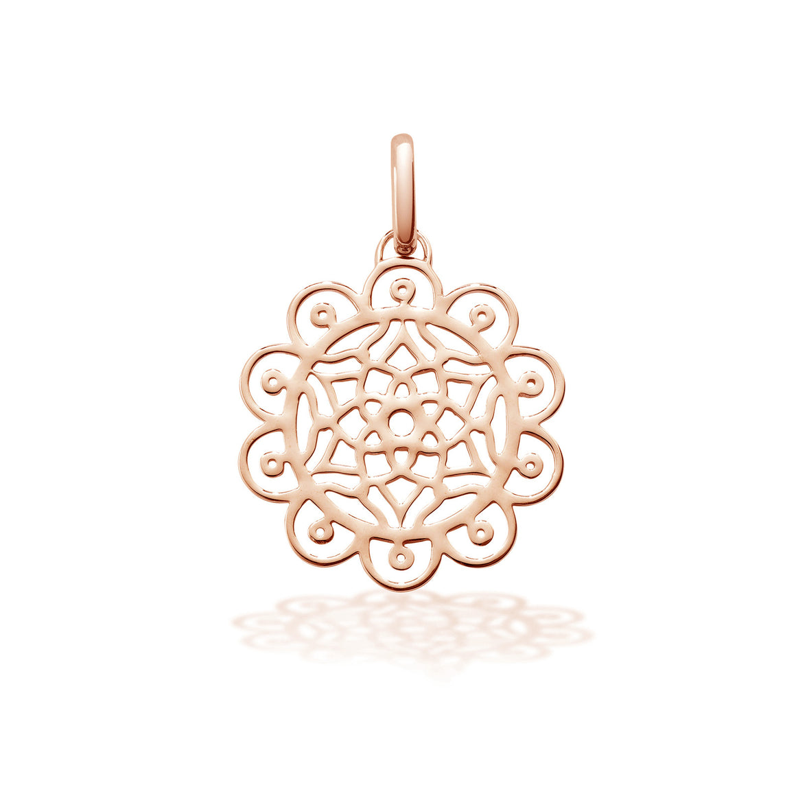 Dreamcatcher charm in Silver with 18ct Rose gold vermeil by OAK Jewellery